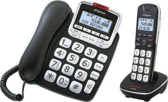 Emporia »GD61ABB« Kabelgebundenes Telefon (Mobilteile: 1)