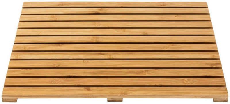 Saunabodenrost WENKO, Höhe 23 mm, Bambus, 50 x 50 cm