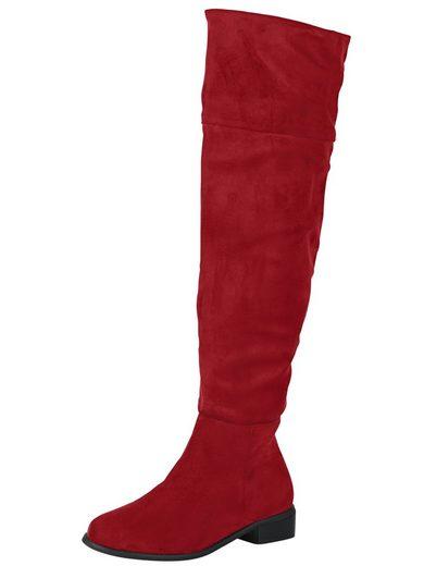 Andrea Conti Stiefel in trendiger Overkneelänge - auch Umschlagbar