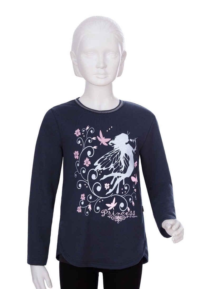 Trigema Sweatshirt mit Glitzerdruck für Mädchen