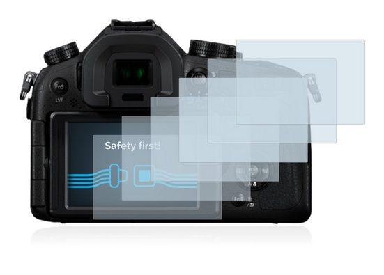 Savvies Schutzfolie »für Panasonic Lumix DMC-FZ1000«, (6 Stück), Folie Schutzfolie klar