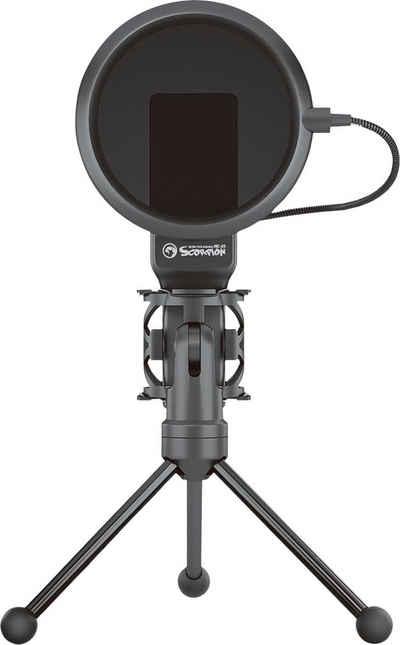 MARVO Streaming-Mikrofon »MIC-03« (1-tlg), USB, mit Popschutz und faltbarem Stativ