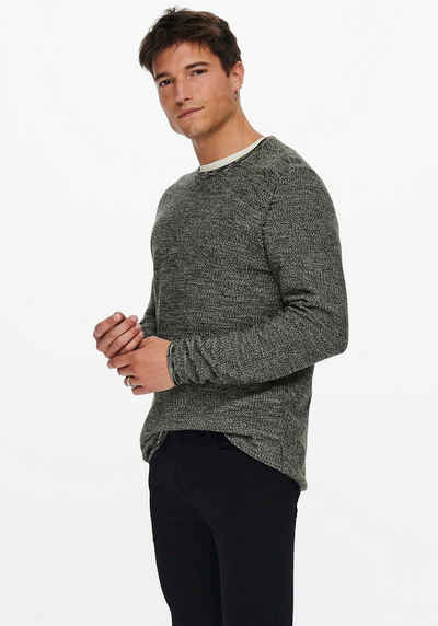 ONLY & SONS Rundhalspullover »NIKO LIFE CREW KNIT«