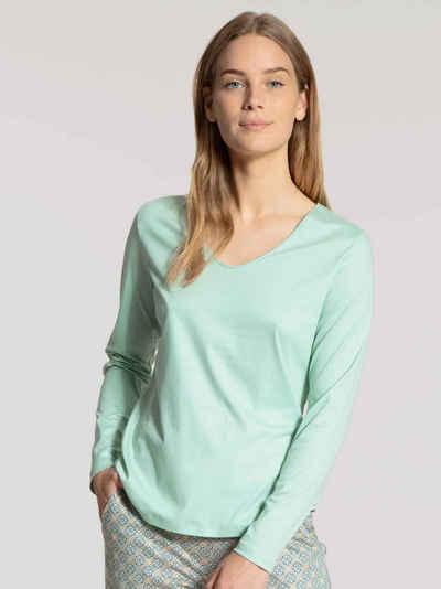 CALIDA Pyjamaoberteil »Langarm-Shirt, V-Neck« (1-tlg) Made in Europe