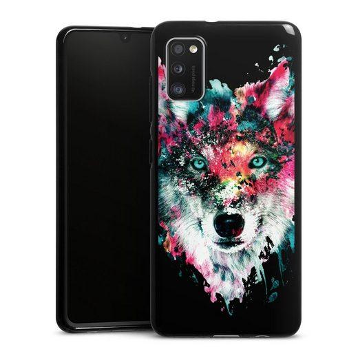 DeinDesign Handyhülle »Wolve ohne Hintergrund« Samsung Galaxy A41, Hülle Riza Peker Wolf bunt