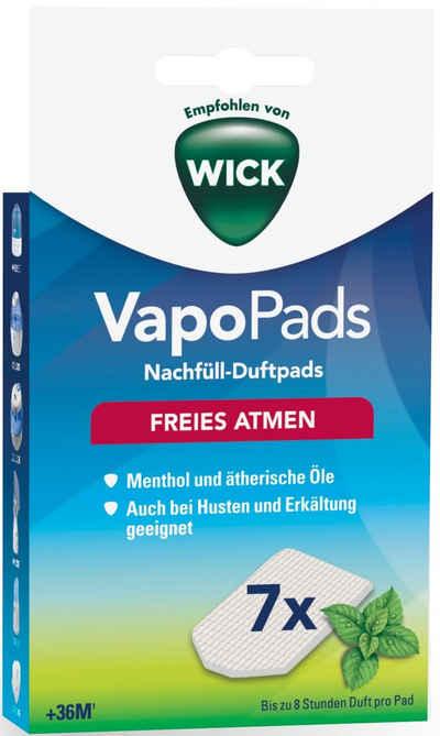 WICK Inhalations-Zusatz »WBR7V1 VapoPads Menthol« Packung, 7-tlg., Duftpads mit ätherischen Ölen