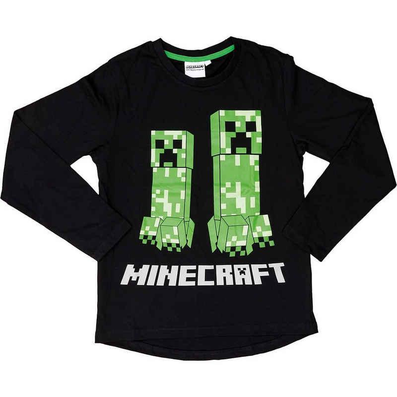 Minecraft Sweatshirt »Langarmshirt Minecraft black/green 152cm«