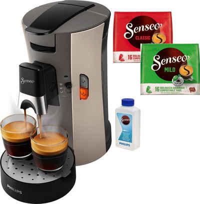 Senseo Kaffeepadmaschine Select CSA240/30, inkl. Gratis-Zugaben im Wert von € 14,- UVP