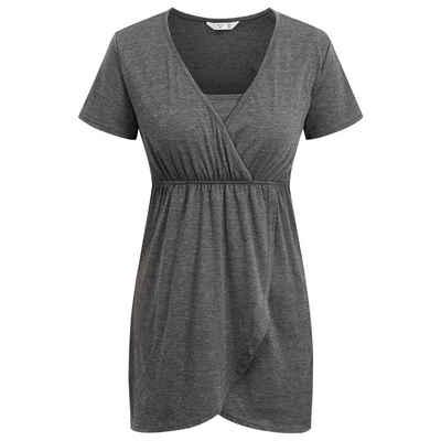 LAPA Stillkleid »LAPA Umstands-Stillkleid, einfarbiges Kurzarmkleid«