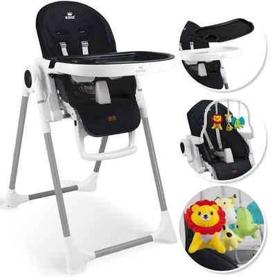 KIDIZ Hochstuhl, 3in1 Hochstuhl, Sitzerhöhung, Hocker, Kinderhochstuhl inkl. Spielbügel, Babyliege, Kombihochstuhl, verstellbare Rückenlehne und Höhe,mitwachsend ab 0