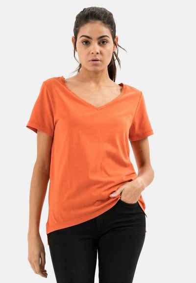 camel active T-Shirt »T-Shirt aus Jersey mit V-Ausschnitt«