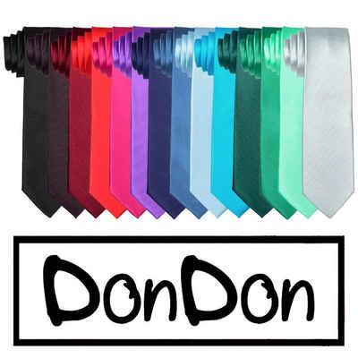 DonDon Krawatte »Krawatte 7 cm breit« (1-St) zeitlos klassischer Schnitt, Seidenlook, für Büro oder festliche Veranstaltungen