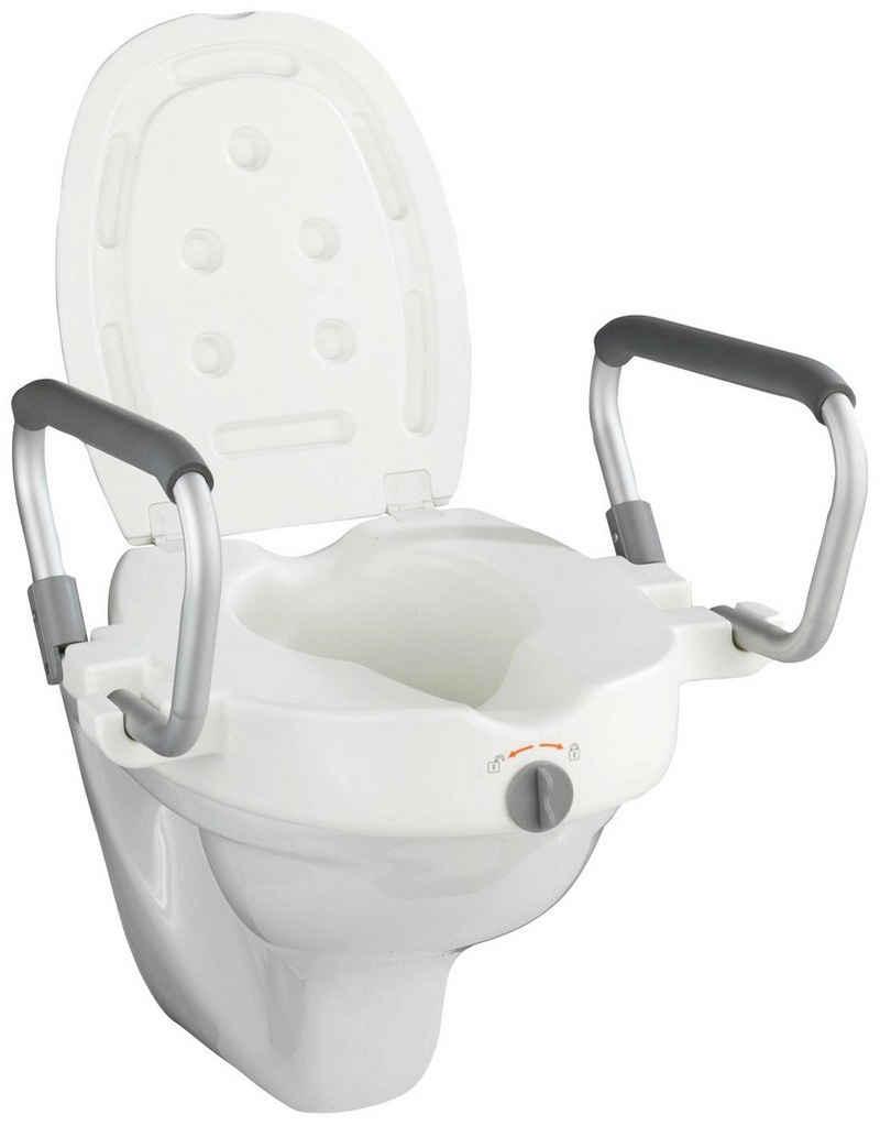 WENKO WC-Sitz »Secura«, SItzerhöhung mit Stützgriffen
