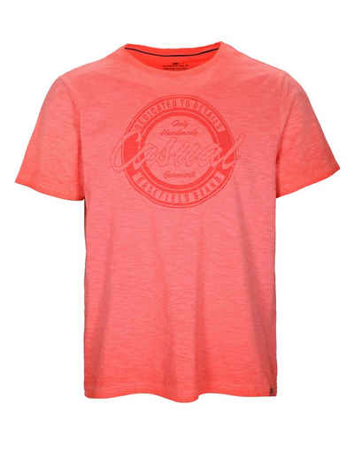 BASEFIELD T-Shirt mit Flammgarn-Optik