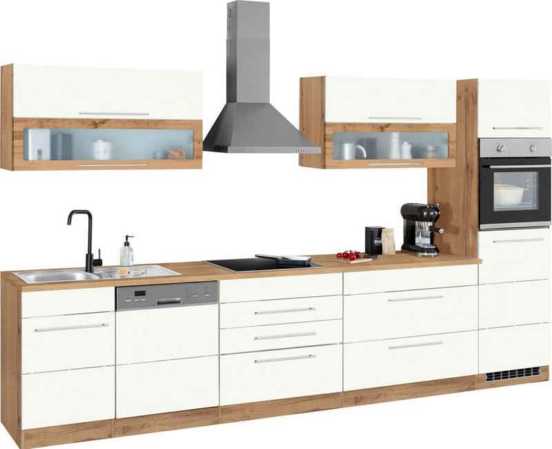 HELD MÖBEL Küchenzeile »Wien«, mit E-Geräten, Breite 350 cm