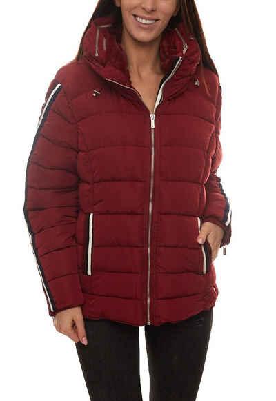 ZABAIONE Winterjacke »Zabaione Miriam Jacke angenehme Damen Winter-Jacke mit Streifen auf den Armen Jackett Bordeaux«