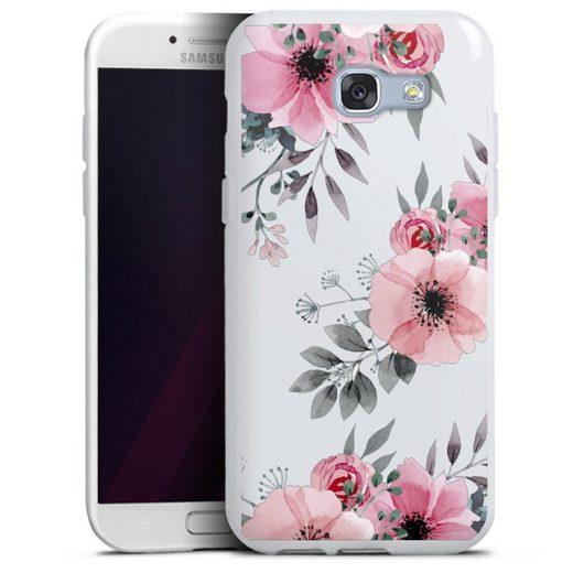 DeinDesign Handyhülle »Blumen rosa ohne Hintergrund« Samsung Galaxy A5 (2017), Hülle Blume transparent Blumen