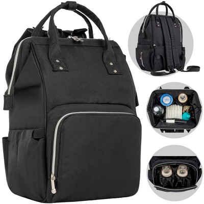 ONVAYA Wickelrucksack »Wickelrucksack grau oder schwarz, Moderne Wickeltasche für unterwegs, XXL Babyrucksack, große Kapazität, Reisetasche«