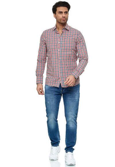 RedBridge Langarmhemd »Toledo« mit coolem Karo-Muster