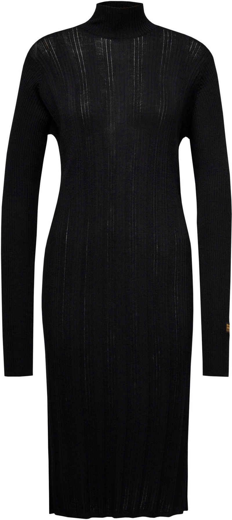 G-Star RAW Strickkleid »Rib Mock Knitted Kleid« in schmaler Passform für eine tolle Silhouette