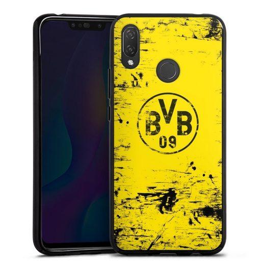 DeinDesign Handyhülle »BVB Destroyed Look« Huawei P Smart Plus, Hülle Borussia Dortmund Offizielles Lizenzprodukt BVB