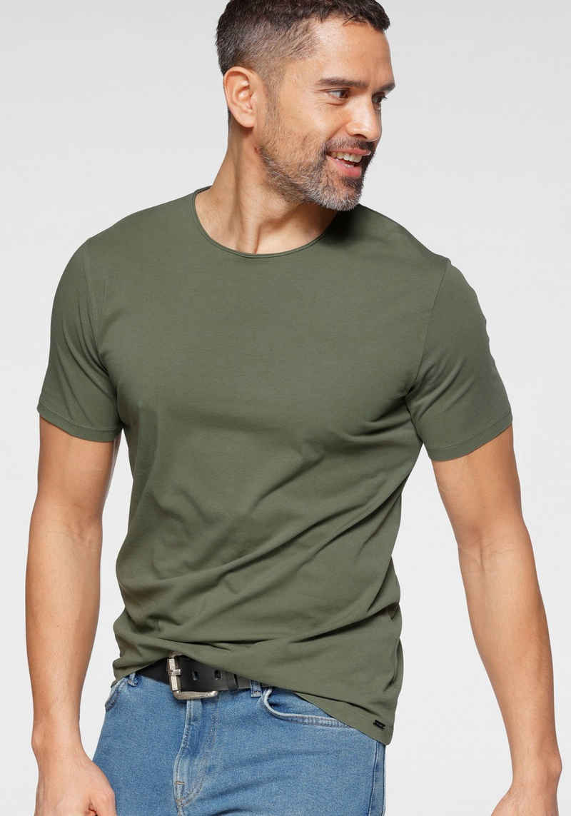 OLYMP T-Shirt »Level Five body fit« mit Rollkanten