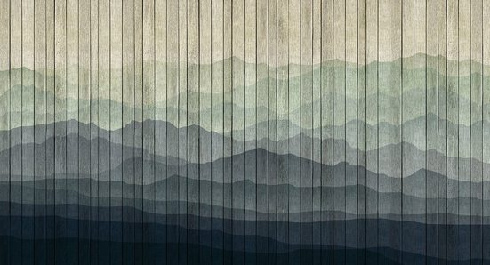 living walls Fototapete »Walls by Patel Mountains 1«, glatt, (5 St)