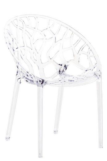 CLP Gartenstuhl »Crystal« wetterbeständiger Stapelstuhl mit einer Sitzhöhe von 45 cm