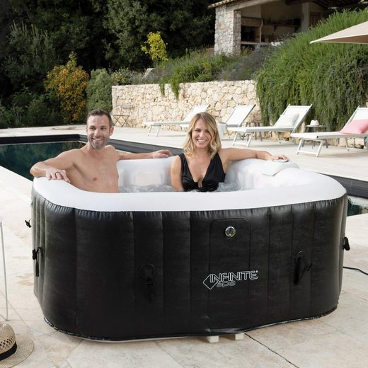 INFINITE SPA Whirlpool »SPA CHAMPION 4P«, BxTxH: 154x154x65 cm, 600l, bis zu 4 Personen