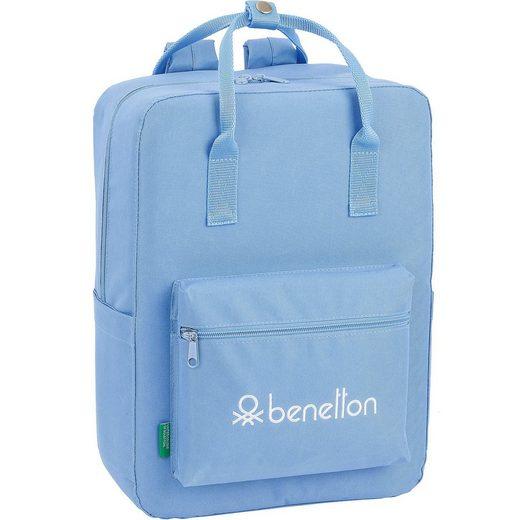 United Colors of Benetton Freizeitrucksack Benetton Basic hellblau
