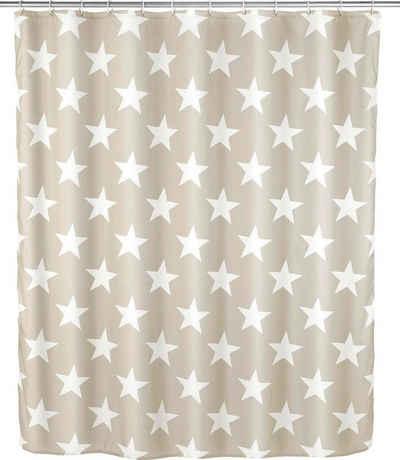 WENKO Duschvorhang »Stella« Breite 180 cm, Höhe 200 cm, Polyester, waschbar