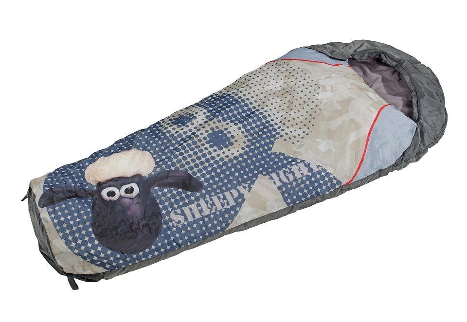 Royalbeach® Schlafsack für Kinder »Shaun, das Schaf« in grau/oliv