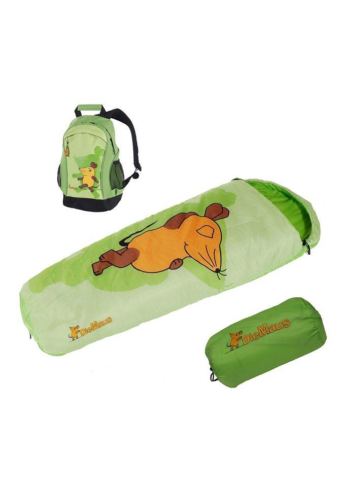 Royalbeach® Set: Schlafsack + Rucksack »Die Maus« in grün