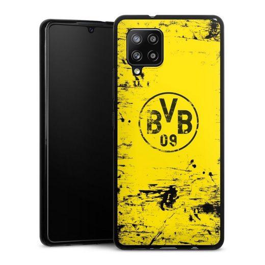 DeinDesign Handyhülle »BVB Destroyed Look« Samsung Galaxy A42 5G, Hülle Borussia Dortmund Offizielles Lizenzprodukt BVB