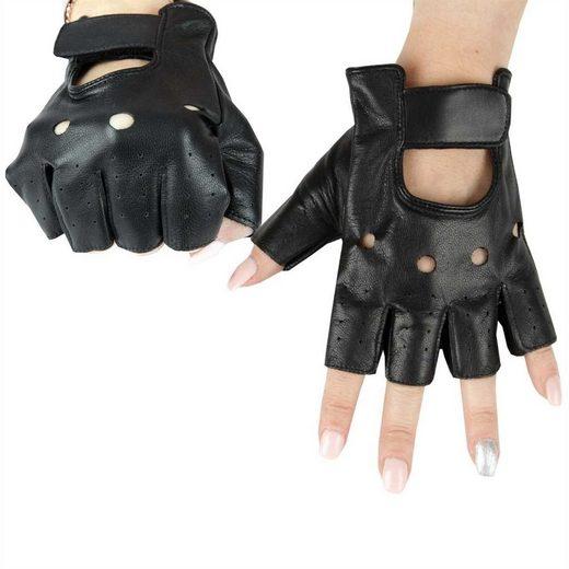 "Bestlivings Lederhandschuhe Motorradhandschuh ""fingerlos"" - Leder Handschuh in vers. Größen ""unisex"""