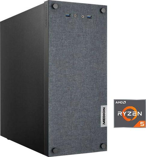 Medion® PC E32010 AKOYA MD34851 Gaming-PC (AMD Ryzen 5 3400G, Radeon Vega 11, 8 GB RAM, 512 GB SSD, Luftkühlung)