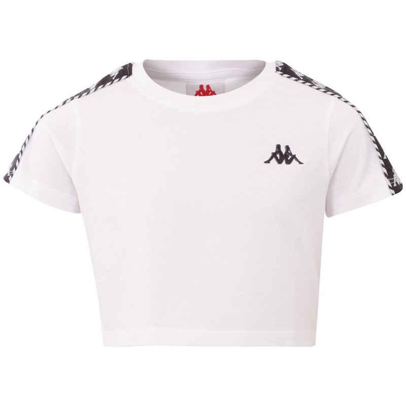 Kappa Rundhalsshirt »INULA KIDS« mit hochwertigem Jacquard Logoband an den Ärmeln