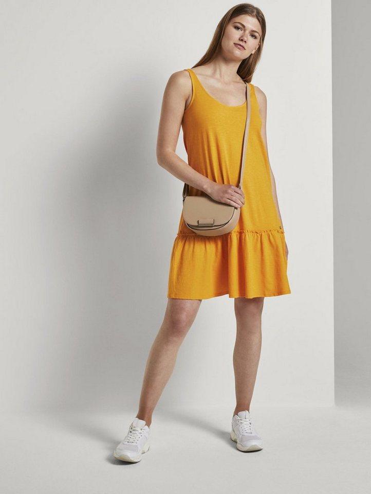 tom tailor denim -  Jerseykleid »Kleid mit Rücken-Detail und Rüschung«