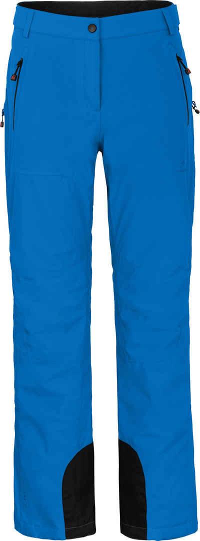 Bergson Skihose »ICE light« unwattierte Damen Skihose mit 20.000er Wassersäule, Normalgrößen, blau