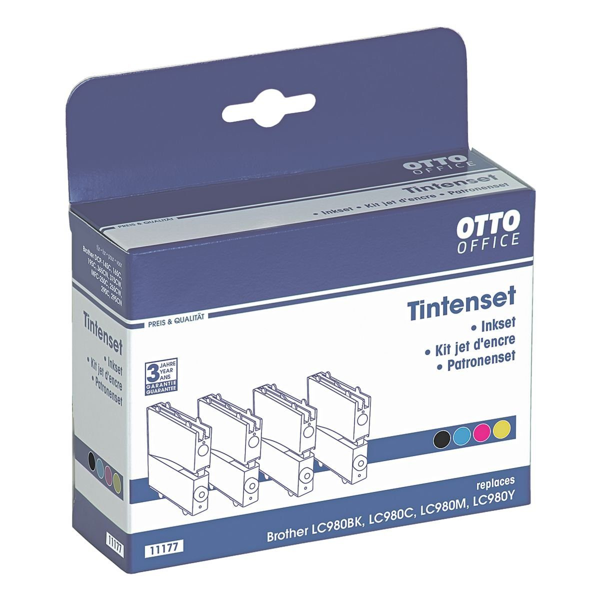 OTTO Office Standard Tintenpatronen-Set ersetzt Brother »LC-980«