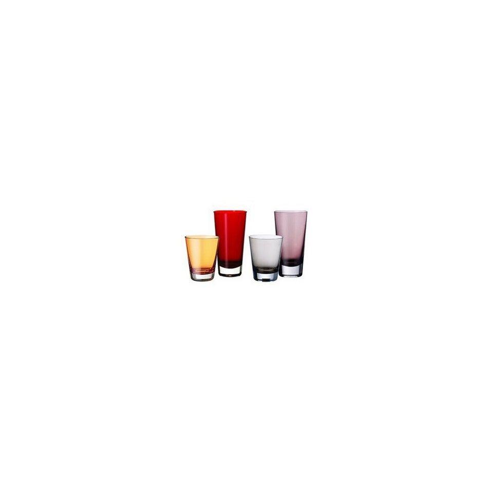 VILLEROY & BOCH Longdrinkbecher red 160mm »Colour Concept« in Dekoriert