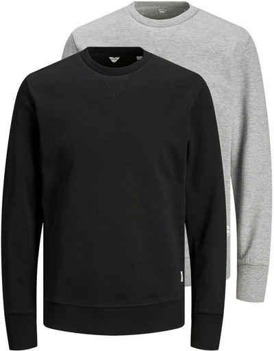 Jack & Jones Langarmshirt »BASIC SWEAT CREW NECK« (Packung, 2-tlg., 2er-Pack)