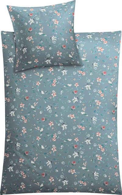 Bettwäsche »Florina«, Kleine Wolke, mit floralem Dessin