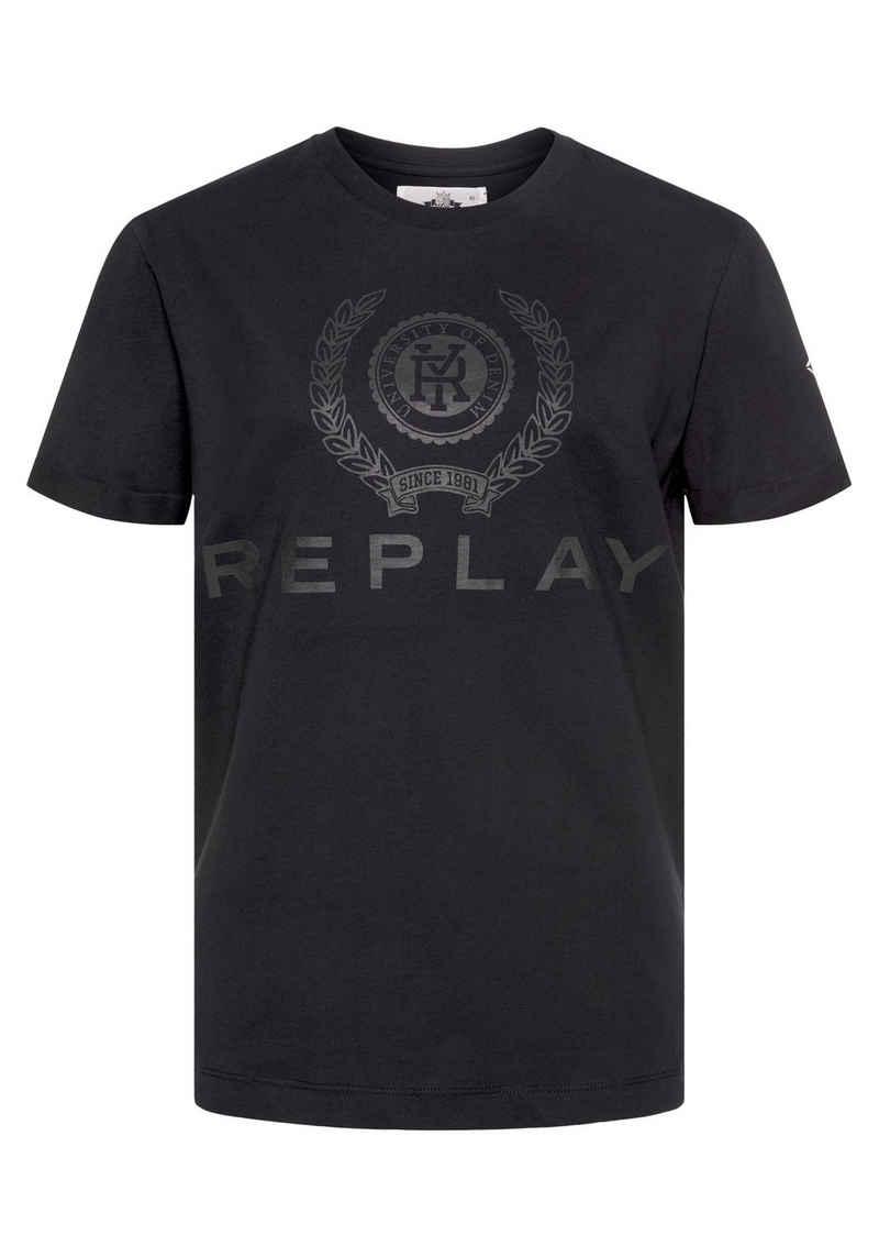 Replay T-Shirt mit großem plakativem Logoprint