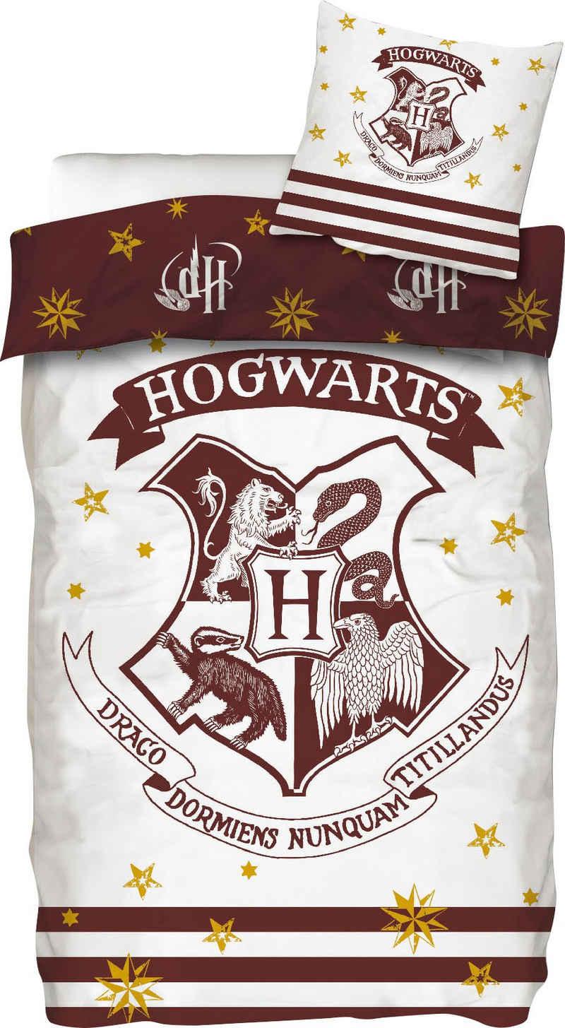 Wendebettwäsche »Logo«, Harry Potter, mit Hogwarts-Logo