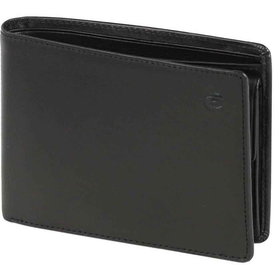 Esquire Logo Geldbörse Leder 12 cm in schwarz