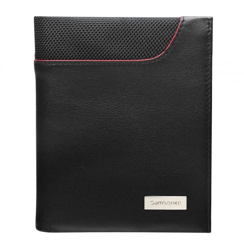 Samsonite Pro-DLX SLG Hochformatbörse Leder 10 cm in schwarz