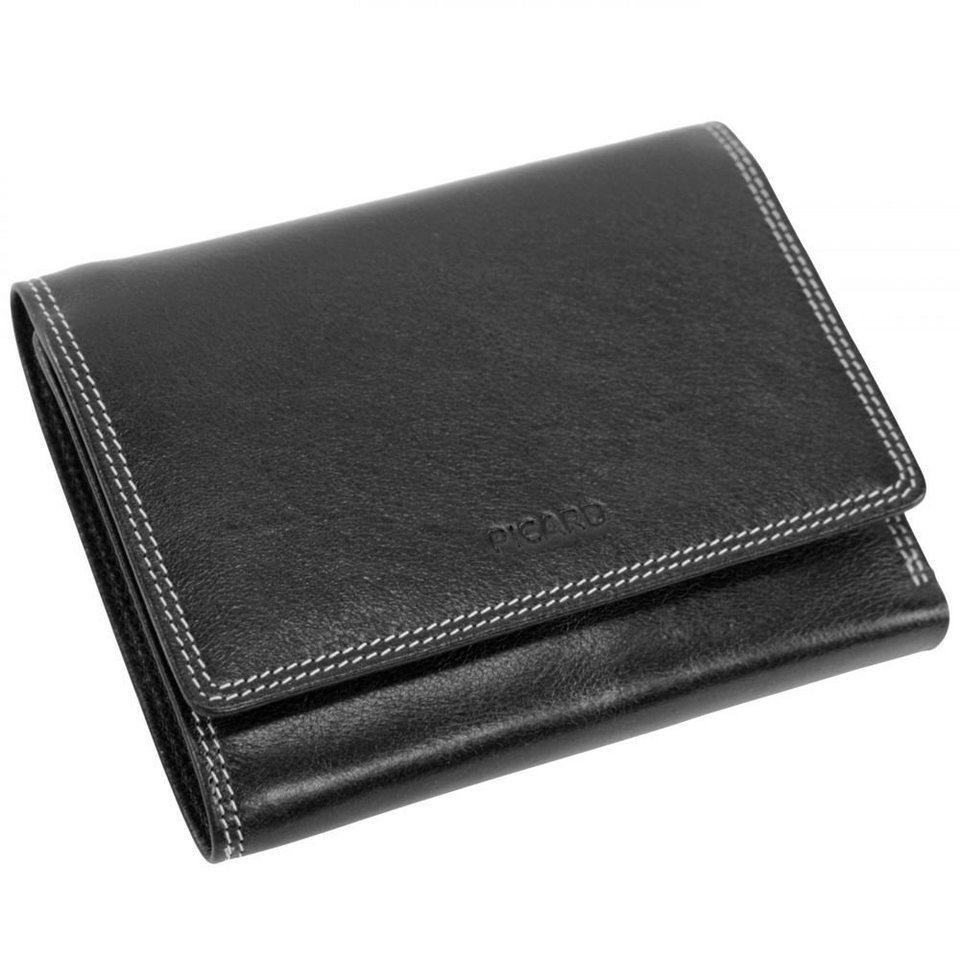Picard Porto Geldbörse Leder 12,5 cm in Schwarz