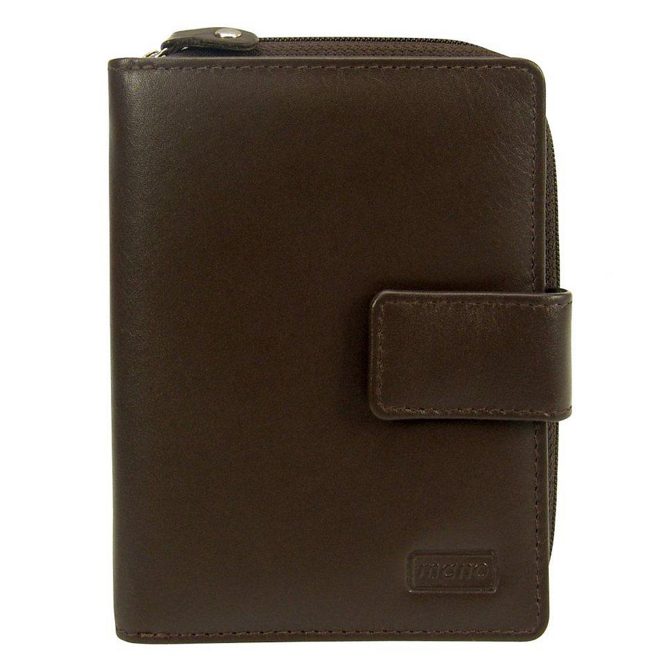 mano Basic DeLuxe Geldbörse Leder 10 cm in braun