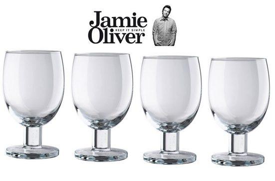 JAMIE OLIVER Weinglas »Jamie Oliver Weingläser Everyday 450ml 4-teilig 552518« (4-tlg)